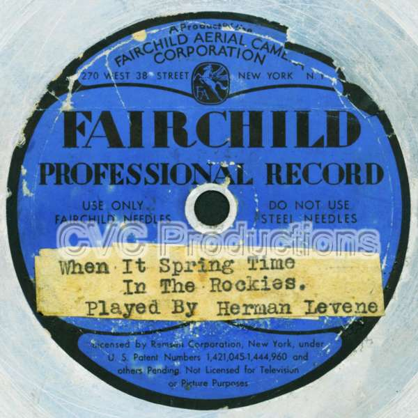 Fairchild Professional Record (metal record)