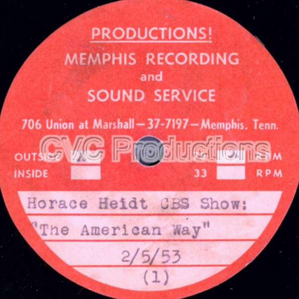 Memphis Recording and Sound Service Record