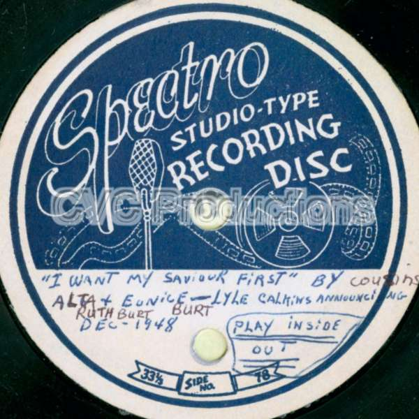Spectro Studio-Type Recording Disc