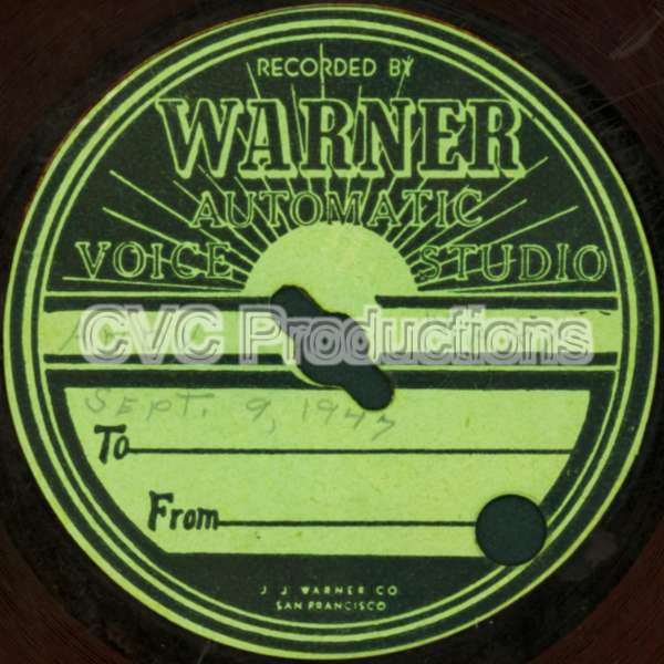 Warner Automatic Voice Studio Record